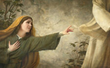 Howard Lyon THREAD OF FAITH 15x24 canvas giclee Woman Seeking Healing from Jesus