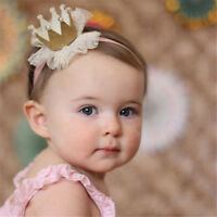 Baby Girl Shiny Princess Tiara Hair Band Headband Kids Elastic Crown HeadweaIHS