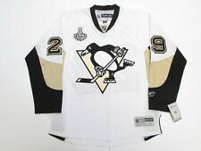 FLEURY PITTSBURGH PENGUINS AWAY 2009 STANLEY CUP FINAL REEBOK HOCKEY JERSEY