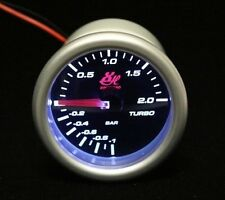 2.045'' 52mm LADESTANGE LED7707 TURBO BOOST VAKUUMMETER AUTO LED WEIßE LED LICHT