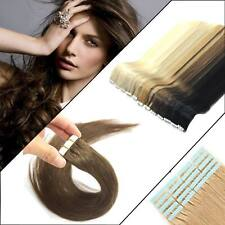 woman hair Tape in Remy Human Hair Extensions Straight Wave hair Elegant UK TOP