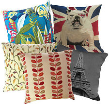 Special Pattern UK France Jungle Flower Cushion Cover/Pillow Case *Custom Size