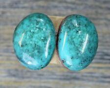 Turquoise cabochon Kingman  mine cab Earring set  Unique  ,C-127