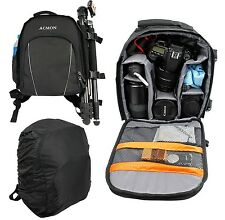 Digital Camera Backpack Bag Waterproof Case Cover SLR DSLR for Canon Nikon Sony