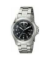 Authentic Hamilton Khaki King Black Dial Stainless Steel Men's Watch H64455133