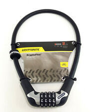 Kryptonite KryptoFlex 1265 4-Digit Combo Cable Lock: 2.12'x12mm Black