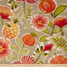 "P Kaufmann Indoor/Outdoor Calypso Tangerine Canvas Fabric 100% Polyester 54"" W"
