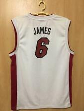 NBA MIAMI HEAT BASKETBALL SHIRT JERSEY ADIDAS LEBRON JAMES #6