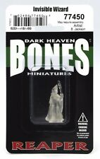 Reaper 77450 Bones Invisible Wizard (1) Miniature Anirion Wood Elf Mage Sorcerer