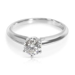 Solitaire Diamond Engagement Ring in Platinum 0.50 ctw