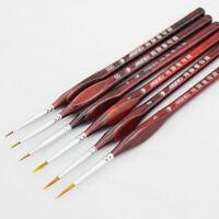 6 Brushes Art Extra Fine Detail Paint Brushes, Miniatures Model Maker Painting