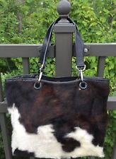 Italy Paola Del Lungo PDL Genuine Fur Leather Purse Handbag Tote Excellent!