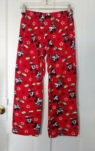 Disney Mickey Mouse red fleece boys/girls/youth pajama pant, size medium/large