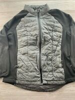 *32 Degrees Heat Size XL Packable Down Puffer Coat Gray full zip jacket Womens