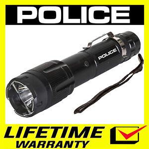 POLICE Stun Gun 1159 650 BV Heavy Duty Rechargeable LED Flashlight