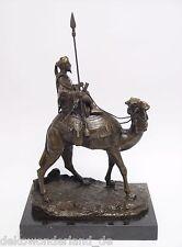 Bronzefigur Bronzeskulptur Bronze Figur Statue Dromedar Reiter Beduine Orient