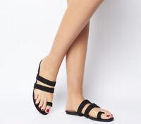 Womens Office Selfie Toe Loop Sandals Black Sandals