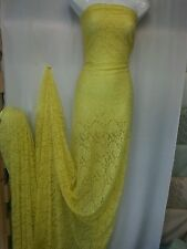1MTR  LEMON YELLOW LACE WITH STREATCH  58INCHES  WIDE