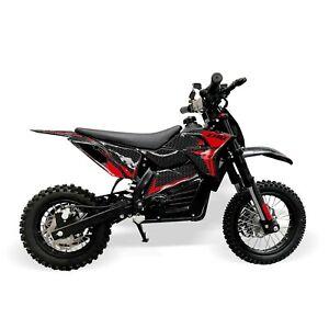 Electric 48V 1200W Kids Dirt Bike – Red