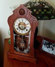Antique Ansonia shelf mantel kitchen clock
