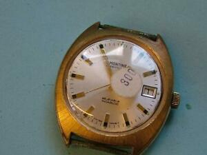 70's Vintage Swiss Made MONTINE Automatic Wristwatch. AS1913, 25j Movt.