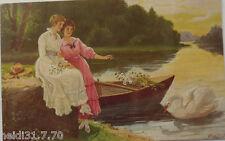"""Weiher, Park, Schwan, Mailick"" 1908, Serie S.V.D. 4257/5  (674)"