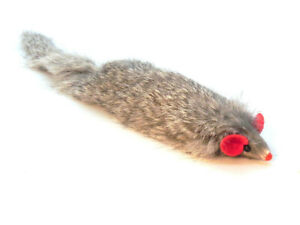 Dat Darn Ferret Rabbit Fur Cat Toy