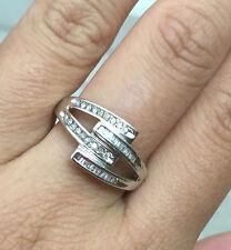 10k White Gold Natural Diamond Wedding Anniversary Ring Band sz6.5