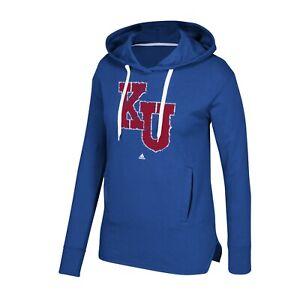 Kansas Jayhawks NCAA Adidas Women's Royal Blue Printed Stitch Fleece