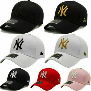 Unisex Mens Womens Baseball Cap Adjustable NY Snapback Sport Hip-Hop Sun Hat