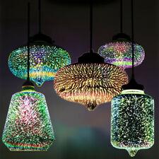 3D Glass Pendant Ceiling Firework Galaxy Star Lights Bar Ceiling Lamp Fixture US