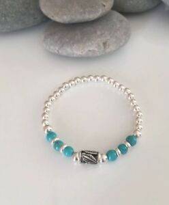 Chunky Sterling Silver And Turquoise Bracelet. Chunky Turquoise Bracelet. Silver