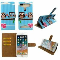 Premium Leather Mobile Phone Owl Wallet Book Case For XOLO Q2100-L