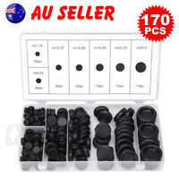 170 Pcs Auto Rubber Grommet Assortment Set Fastener Kit Blanking 7 Popular Sizes