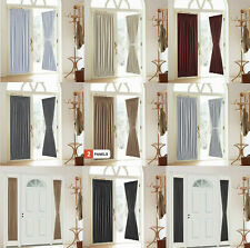 2 Panels French Door Curtains Patio Window Curtain Blackout Privacy Patio Drapes