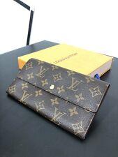 Authentic Louis Vuitton Continental Wallet Sarah Wallet Monogram LV