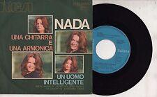 NADA disco 45 giri UNA CHITARRA E UNA ARMONICA made in ITALY 1972