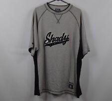 Shady Limited Mens Large Eminem Hip Hop Rap Short Sleeve Shirt Gray Cotton