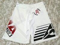 Ecko MMA Grip Fight Shorts White,Black, Red Size Medium NWT Side Slit