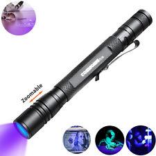 395nm Zoomble UV Pen Licht Schwarzlicht LED Taschenlampe Stift Light Lampe AAA