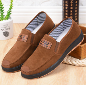 Fashion Mens Closure Sneakers Comfort Loafers Slip on Casual Shoes