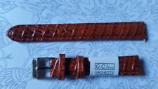 watch bands BRACELET DE MONTRE / CUIR DE  VACHETTE  / 14mm /  marron  REF/LMS503