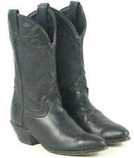 Laredo Black Leather Western Cowboy Boho Boots Vintage US Made Women's 8 B