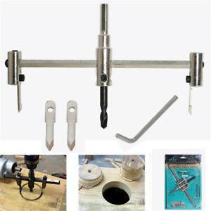 30 - 200mm Adjustable Circle Hole Cutter Saw Metal Wood Drill Bit DIY Tool Set