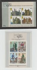 Gb Stamp Sheet - Ms1089 - Ms1058 1st & 2nd Issue MiniSheets 1978-79