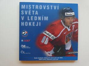 TSCHECHIEN Kronen KMS Eishockey 2004 Kursmünzensatz st