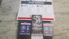 NBA- GOLDEN STATE WARRIORS VS. WASHINGTON WIZARDS-APR.2,2017 FULL TICKET & STUBS