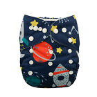 Alva Baby Print Adjustable Washable Reusable Cloth Diaper Pocket Nappy+1Insert