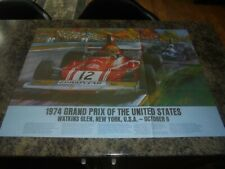NEW YORK 1974 GRAND PRIX DOUBLE SIDED POSTER RARE