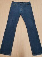 ■392 Fidelity Denim Stretch Jimmy Jeans Mens size 35x33 Slim Fit Dark Wash USA